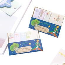 1pack/lot Kawaii Memo Sticker Little Princeling Fairy Tale Paper Sticky Hand Writing Message Notepad Student Family Supply