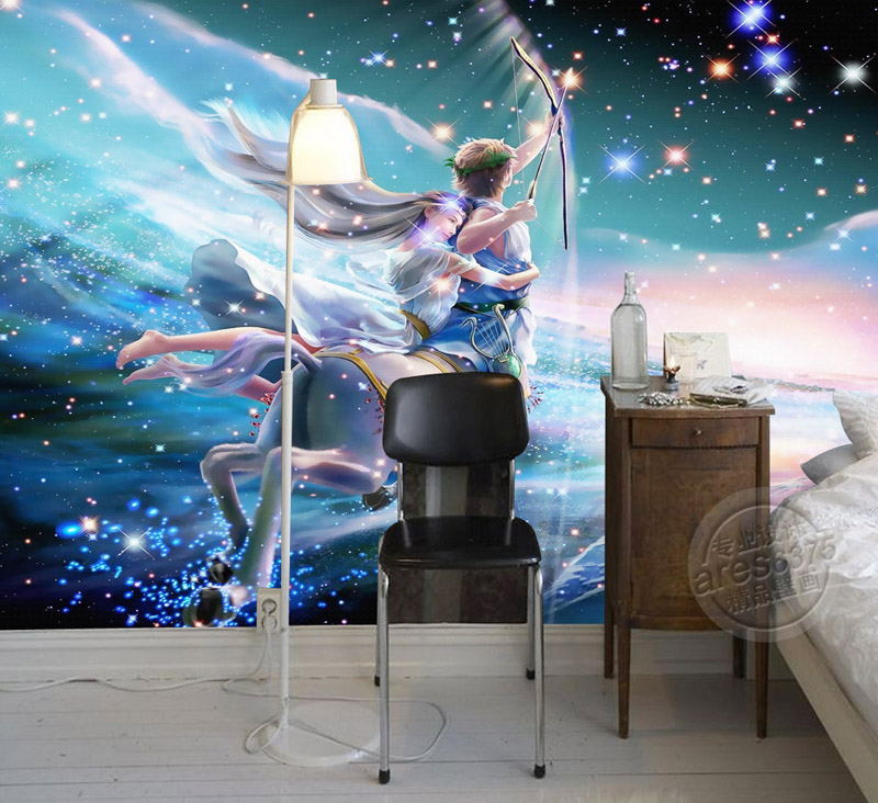 Us 16 73 38 Off Sagittarius Photo Wallpaper Charming Galaxy Wallpaper Custom 3d Wall Murals Kids Room Decor Bedroom Sitting Room Interior Design In