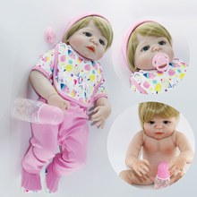 55cm reborn dolls straight hair silicone babies girls lifelike bebe bonecas hot sale DOLLMAI wholesale toy