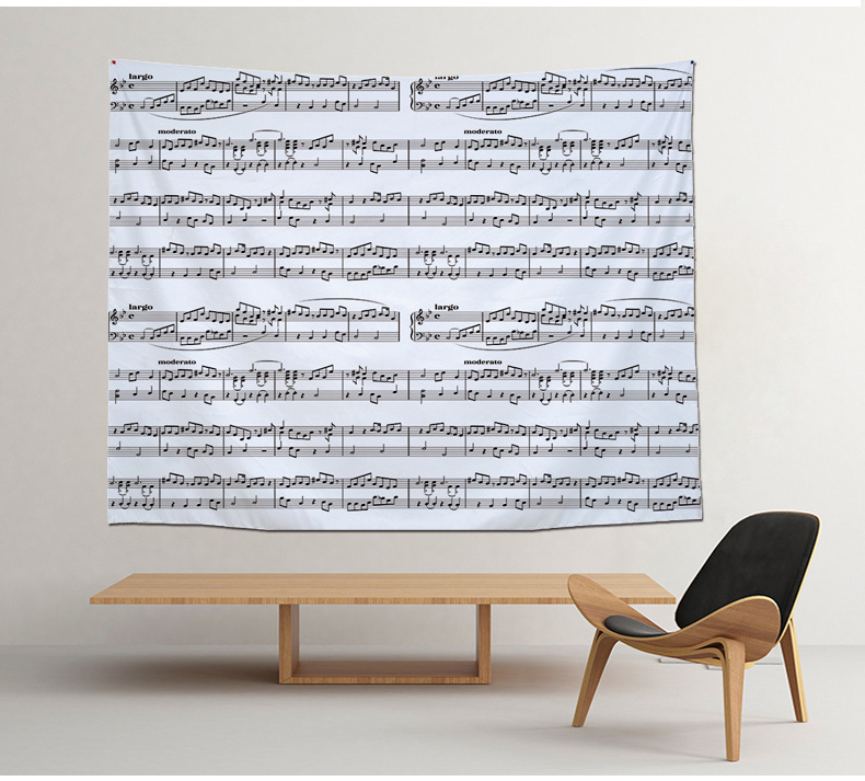 Periodic Table Of Elements Geometric Music Score Printed Large Polyester Wall Hanging Tapestry Bedroom Home Decor Tenture Mural In From