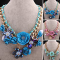 Three Colors Fashion Jewelry  Sweet Necklace 46CM+8CM Women Resin Golden n017 gift pouches Box  Free