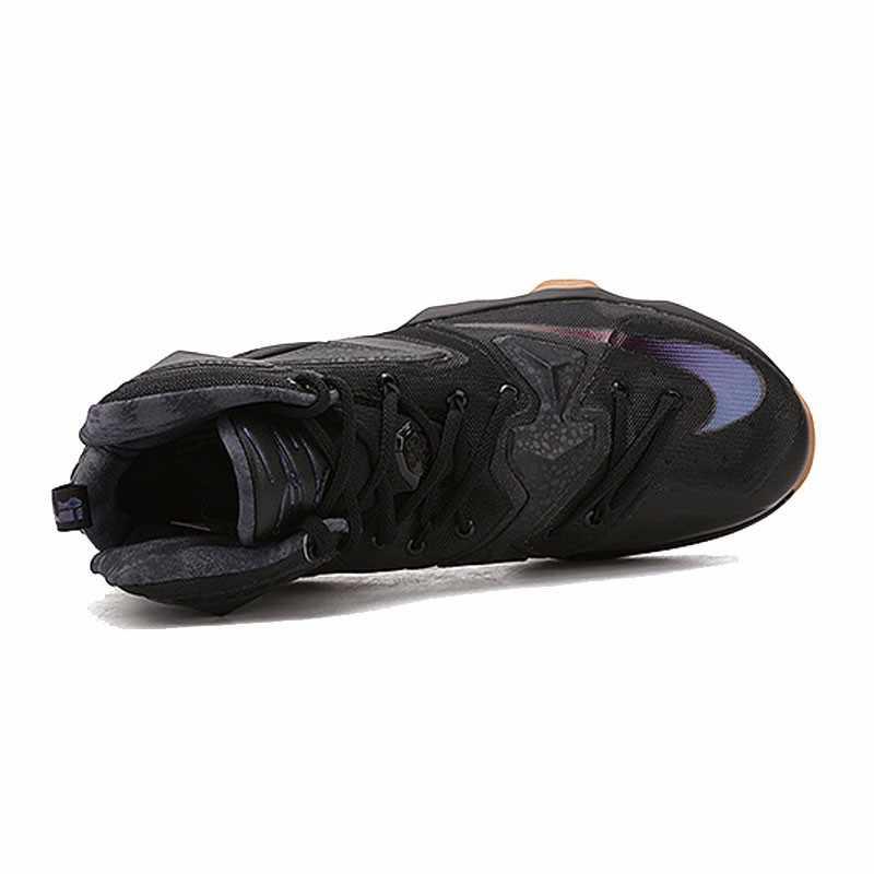 Оригинальный Nike Оригинальные кроссовки Для Мужчин's футболка с надписью LEBRON EP Линдона Джонсона 13 дышащие ботинки с высоким берцем крутой Баскетбол обувь нитки спортивные кроссовки удобные