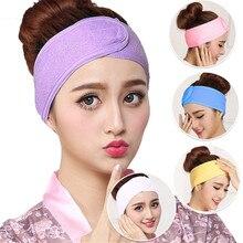 2019 Hot Sale Fashion Women Soft Adjustable Towel Hair Wrap Head Band Make Up Beauty Hair Band