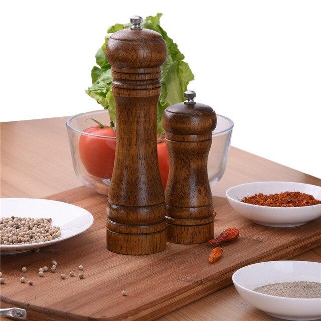 Wooden kitchen tools Salt Pepper Grinders Mills