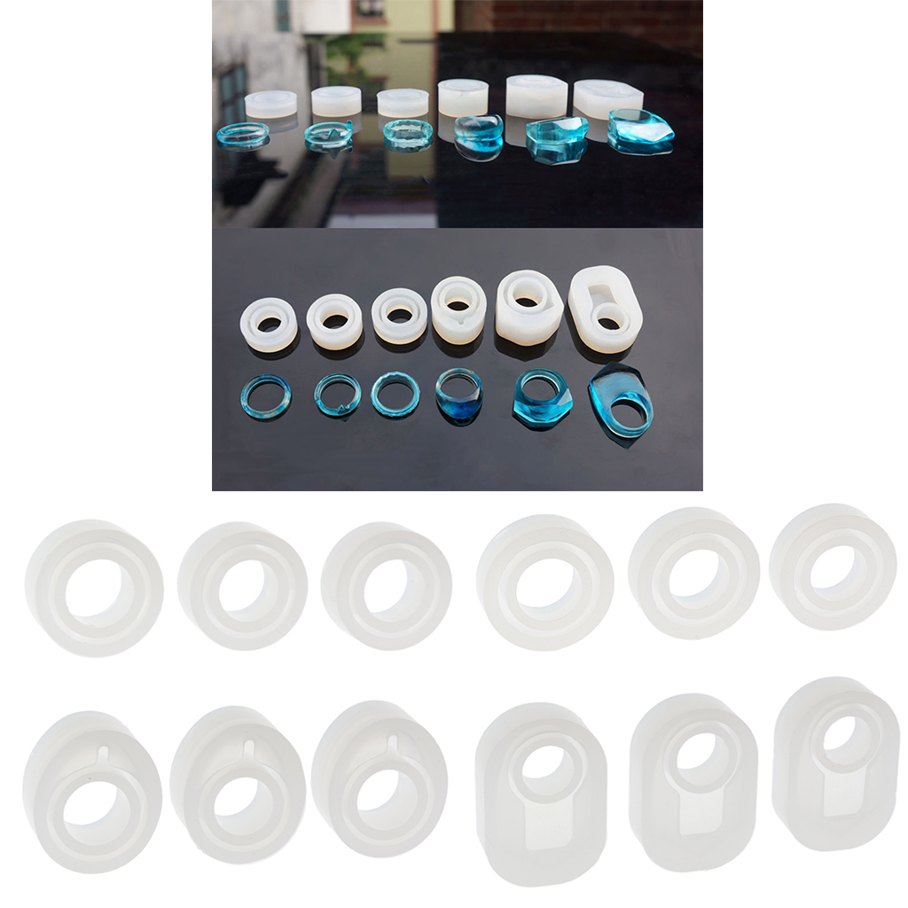 3 Pcs Assorted Size DIY Silicone Ring Jewelry Making Craft Resin Casting Mold Handmade Craft Accessories in Jewelry Tools Equipments from Jewelry Accessories