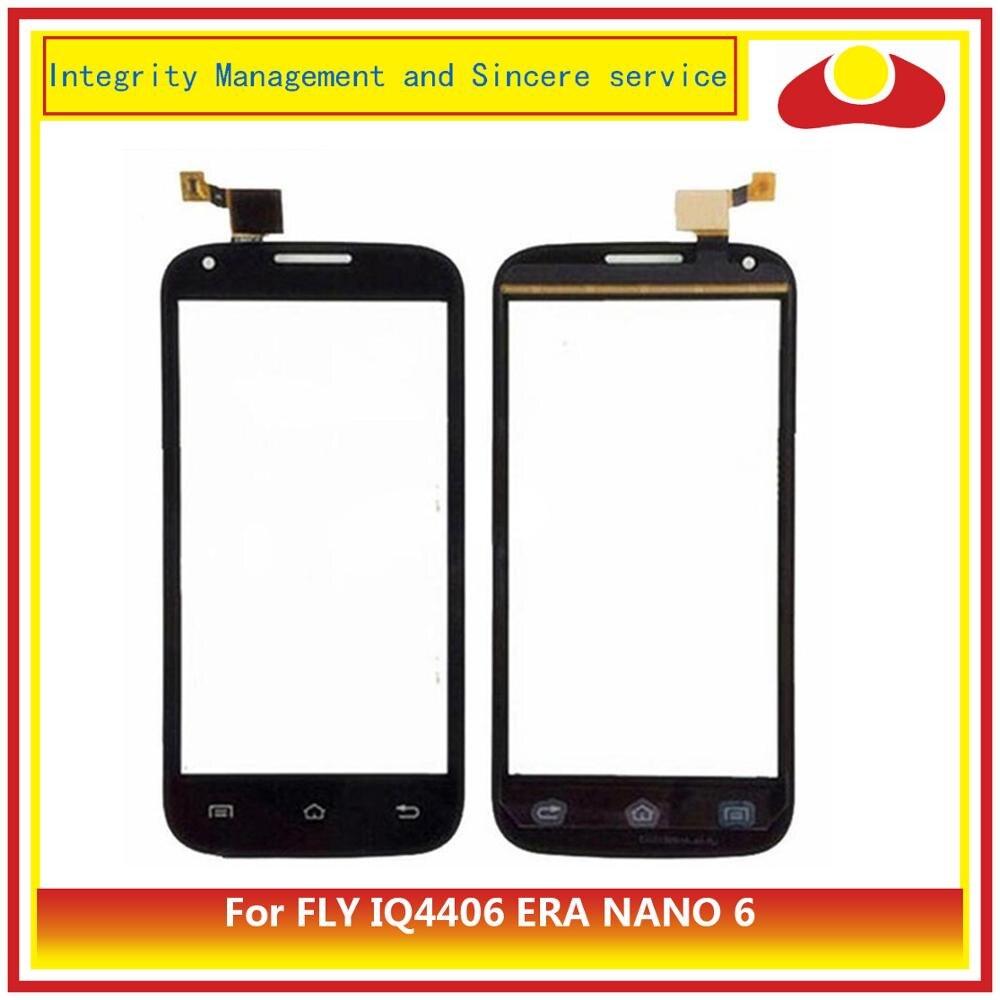 ORIGINAL pour FLY IQ4406 ERA NANO 6 numériseur écran tactile capteur lentille extérieure en verre pour écran tactile Fly IQ 4406