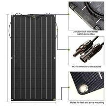 Солнечная панель 400 Вт 300 Вт 200 Вт 100 Вт 18 в 24 В Гибкая солнечная панель для 12 в зарядное устройство монокристаллический элемент 1000 Вт комплект домашней системы