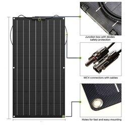 Солнечная панель 300 Вт 200 Вт 100 Вт 400 Вт 18 в 24 В Гибкая солнечная панель для 12 в зарядное устройство монокристаллическая ячейка 1000 Вт комплект д...
