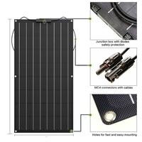 Flexible solar panel 100W 200w 300w 400w 12V panel solar battery charger Monocrystalline solar cell for 1000w home system kit