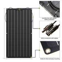 Panneau solaire 300w 200w 100w 400w 18V 24V panneau solaire flexible pour chargeur de batterie 12V cellule monocristallin 1000w kit système domestique