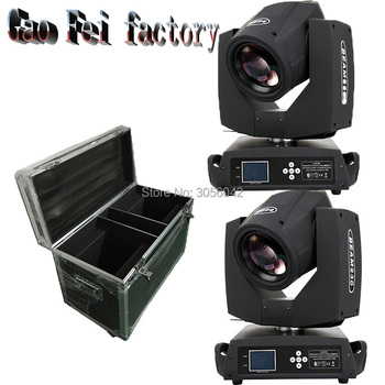 2pcs/lot with 2in1 flight case sharpy beam 230w 7r moving head light 24 face prism effect Professional Stage Equipment