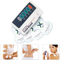 2 Channels Electric Stimulator Neck Massager with Electrode Pad Shoulder Back Body Vibrating Massage Relieve Pain Low-frequency