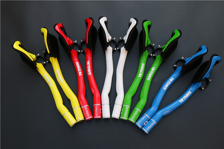 ФОТО Free shipping authentic full carbon fiber road bike TT time trail handlebar extend handlebar blue/green/white/red/yellow