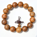Ubeauty natural African Wenge wood  Buddhist Prayer Beads  Tibetan  Mala Buddha Bracelet  Rosary Wooden Bangle women men Jewelry