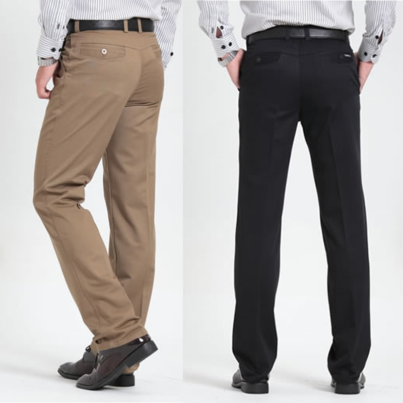 Men'S Casual Pants Classic Full Length Suit Straight Cotton Business Man Thick Commercial Plus Big Size 40 42 Trousers