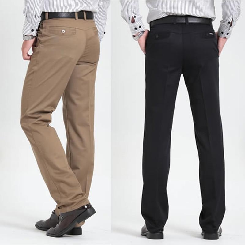 cee8b278de Men's casual pants brand classic full length Suit straight cotton business  man thick commercial plus big size 40 42 trousers