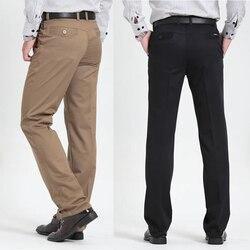 Uomo casual Pantaloni Pieno Classico di Lunghezza Del Vestito Dritto di Affari del Cotone Uomo di Spessore Commerciale Più Grande Formato 40 42 Pantaloni