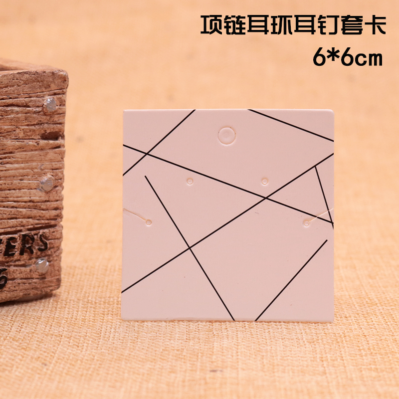 100Pcs/lot White Paper Necklace Card Stripes Design Jewelry Earrings Card Favor Earring Necklaces Display Packaging Cards