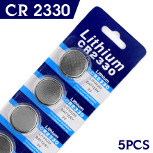 Real Power For watch Button battery CR2330 2330 BR2330 ECR2330 3V Coin Cell Battery Bulk Lot Wholesale 5 Pcs EE6228