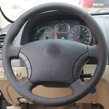 цена High Quality cowhide Top Layer Leather handmade Sewing Steering wheel covers protect For Great Wall Haval Hover H3 Wingle 3 онлайн в 2017 году