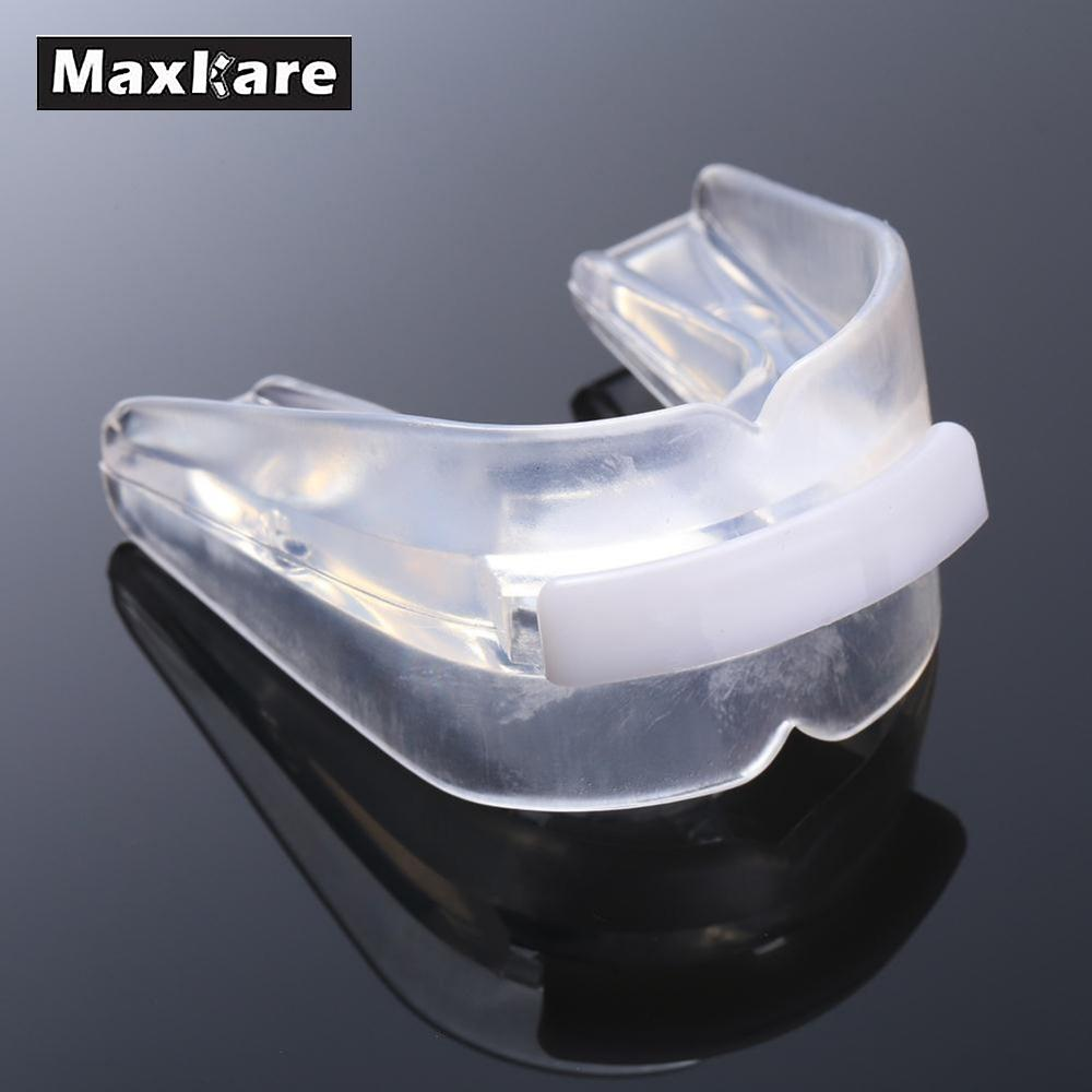 Maxkare Transparent Sports Gum_Shield *Mouth_Guard *Teeth_Protector for Rugby Boxing Safe Soft *Strenuous_Exercise Silicone