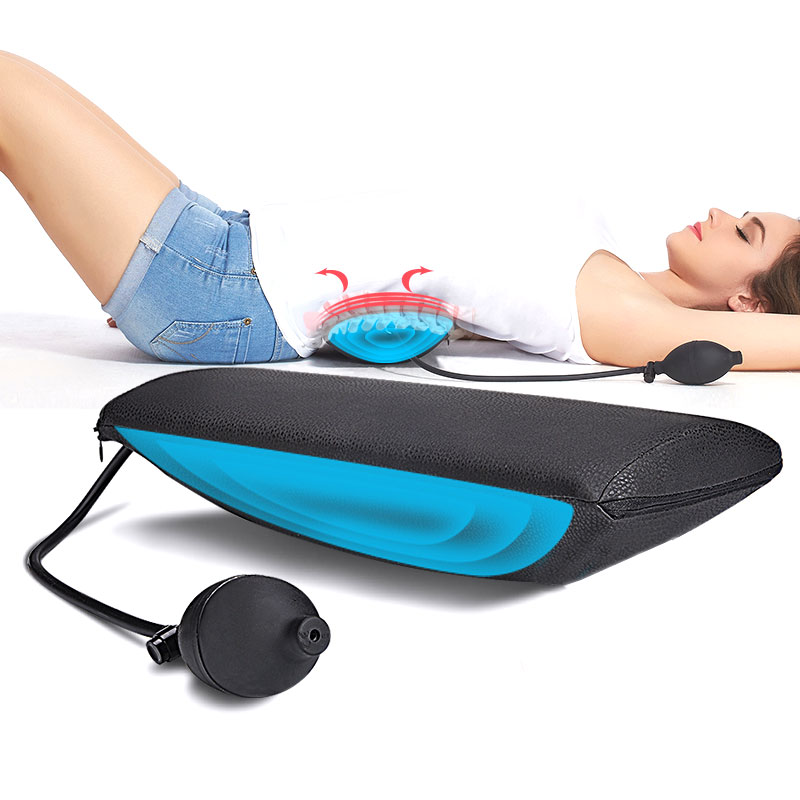 Portable Lumbar Appliance Waist Back Massage Pillow Backache Lumbago Strain Correction Massager Relaxation Pad Cushion dynamic bodyuse for effective strain free massage