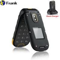 IP68 Dual Screen Flip Phone Shockproof Waterproof GSMSenior Clamshell Elder Student Phone Russian Keyboard One Key