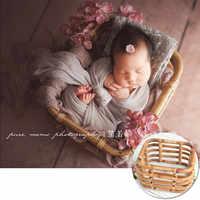 Neugeborenen Fotografie Requisiten Baby Vintage Woven Korb Foto Schießen Säuglings Requisiten Container Baby Fotografie Requisiten Mädchen Fotografia