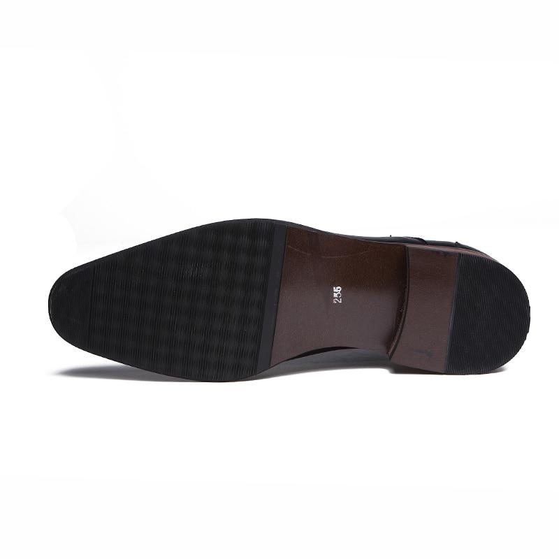 Marque Noir Bout Chaussures Top Rétro Faible Pointu Luxe De Tendance À Classique Business marron Robe Casual Hommes Jeunes Coréen Mariage Oxford Style Rq4CrRw