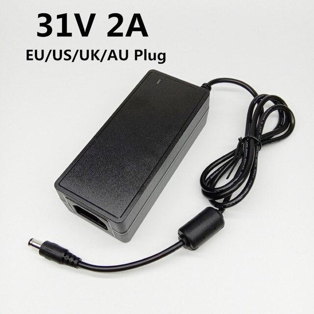 31 v 2A スイッチング電源ユニバーサル電源アダプタ ac dc アダプタ 31v2a 31 ボルト dc 電圧コンバータ、 eu 、米国英国 au プラグ