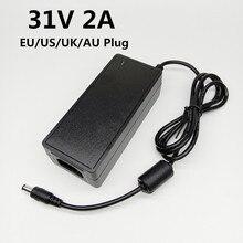 31V 2A แหล่งจ่ายไฟ Universal Power Adapter อะแดปเตอร์ AC DC 31v2a 31 โวลต์ DC แรงดันไฟฟ้า Converter EU US UK AU Plug