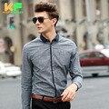 High Quality Men Shirt Long Sleeve Cotton Linen Dress Man's Business Clothing Turn-Down Collar Social Brand Shirts MDSS1514