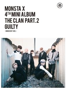 MONSTA X 4TH MINI ALBUM - THE CLAN 2.5 PART.2 GUILTY  (INNOCENT VER.) Release Date 2016.10.05 Kpop exo 4th album repackage the war the power of music chinese ver korean ver 2 version set release date 2017 09 06