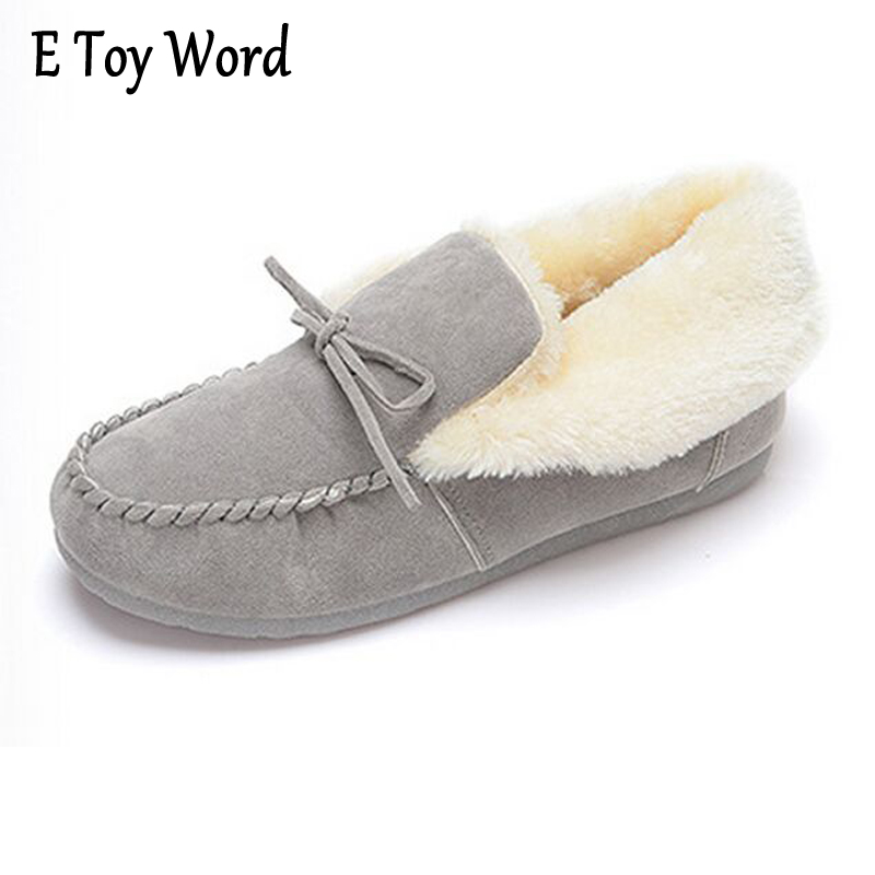 E TOY WORD 2017 New Arrival Winter Women Boots Soft Cute Women Snow Boots Round Toe Flat Shoes Wool Keep warm Women Shoes segal business writing using word processing ibm wordstar edition pr only