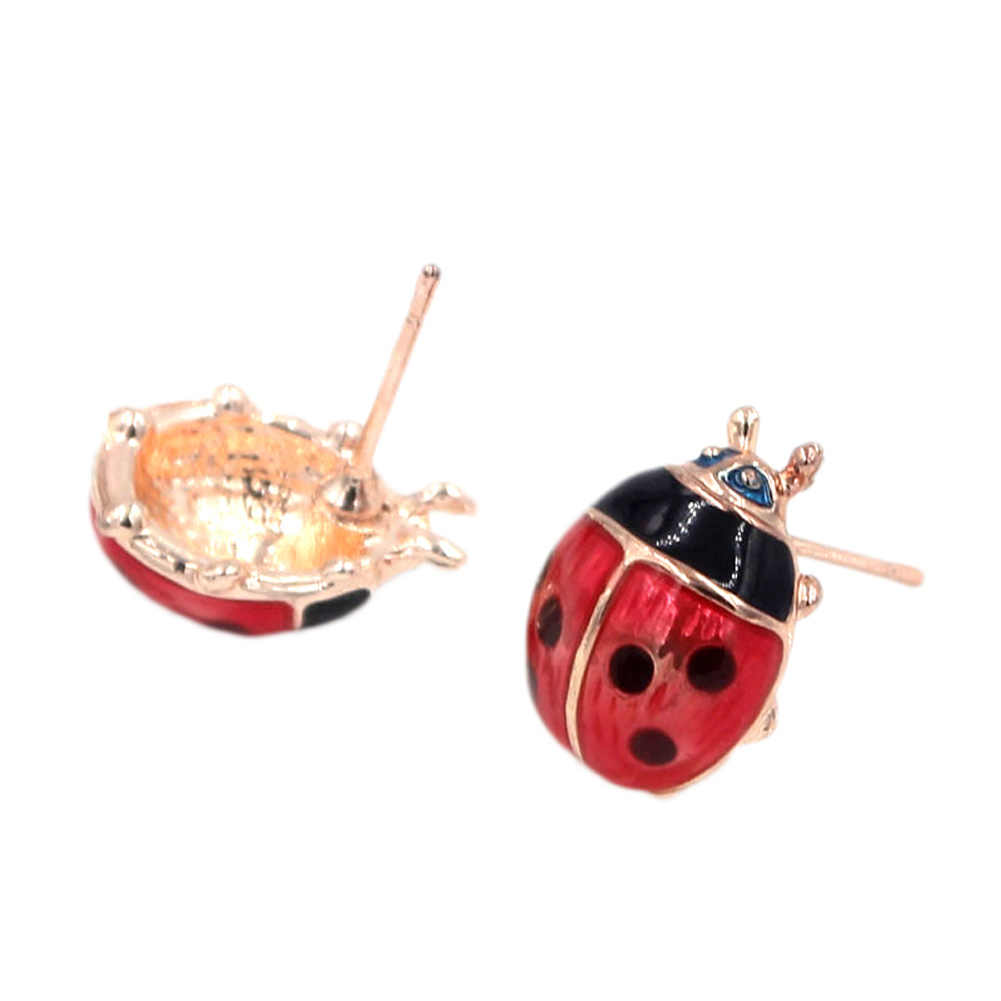 7e4f789ce ... Cute Small Ladybug Earrings Brincos For Women Girl Stud Earrings  Fashion Jewelry Pendientes Mujer Moda ...