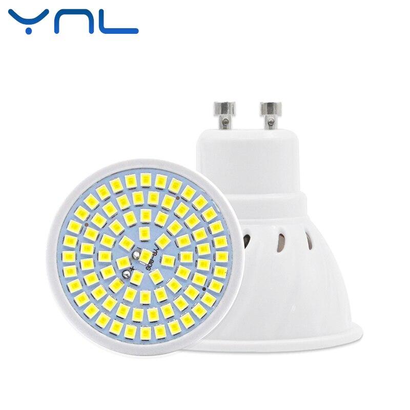 YNL lampada LED Lamp Bulb GU10 48Leds 60Leds 80Leds AC 220V 2835 SMD Wall Downlight For Indoor light & lighting Spotlight led lamp mr16 led bulb led spotlight bulb lampada 36 54 72leds smd 2835 for indoor home spot light ac 110v 220v dc 12v 24v