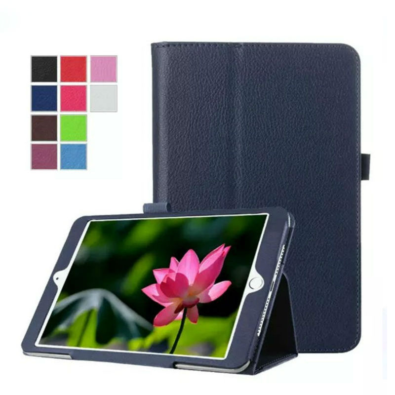 For iPad mini 4 mini4 PU Leather Case Cover 7.9 inch Protective Stand Skin For Apple iPad mini 4 Tablet Fundas Smart Case +Gift