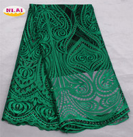 High Quality Nigerian Lace Fabrics 2017 African French Net Lace Fabric Tulle Mesh Fabric For Party