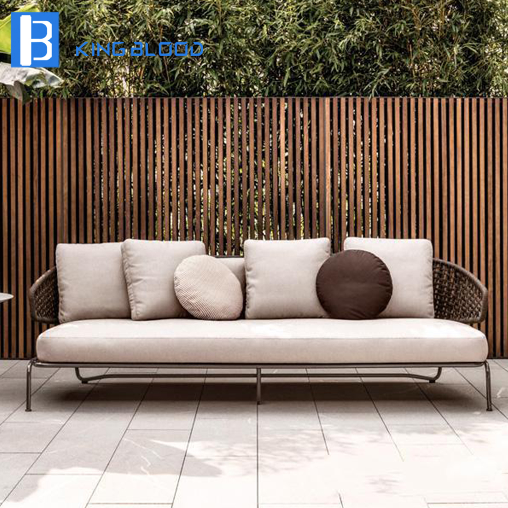 Rattan garden aluminum frame patio sofa outdoor furniture