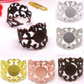 10X with inner 8mm Planar flower shaped ring of diy accessories