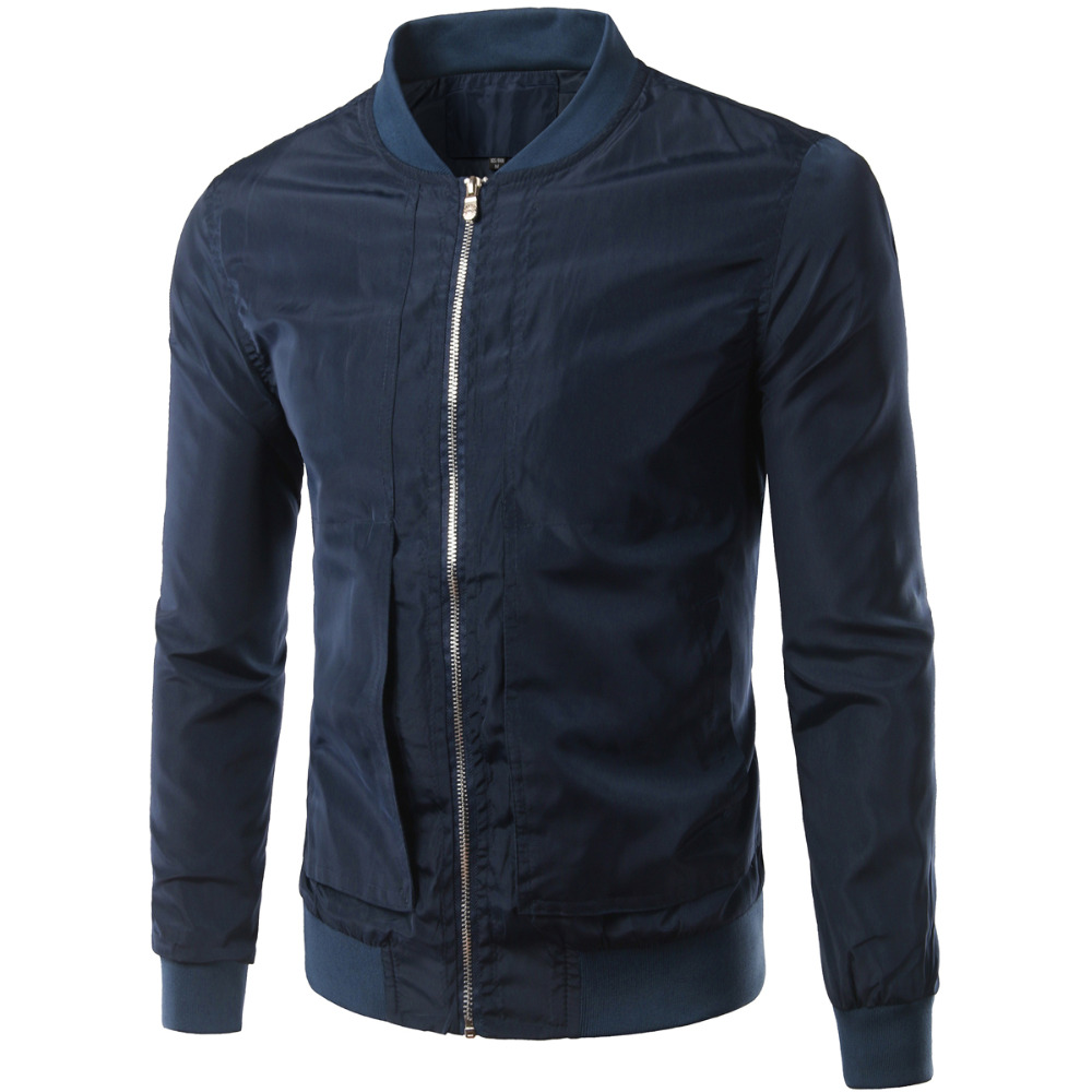 brand navy blue bomber jacket men veste homme 2016 autumn