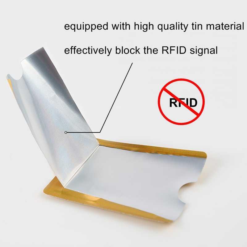 5 pcs Anti Rfid Blocking Reader Lock Bank Card Holder ID Bank Card Case Rfid Protection Metal Credit Card Holder Aluminium OT003