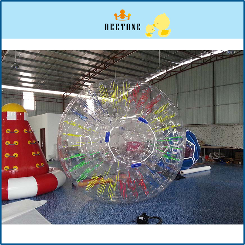 DEETONE Air Bubble Soccer 0.8mm PVC 2.6m Air Bumper Ball Adult Rolling Ball On Grass Inflatable Bubble Football Zorb Ball