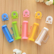 with Suction Cup Hook Toothpaste Tube Dispense Press Bathroom Device 8*7.7*2.5cm ABS Plastic Practical Creative Rolling Squeeze