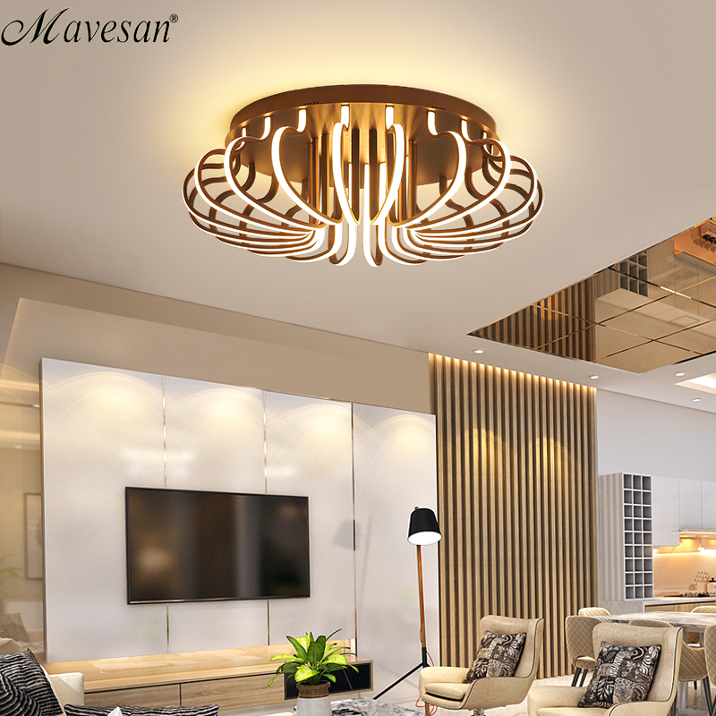 Modern Living room led ceiling lights for 10-15square meters restaurant indoor light luminarias para sala Remote control