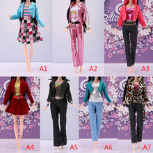 1 Set Fashion Tops Coat Pants Dress Skirt Doll Clothes For 30cm 11 Inch Girl Dolls Pretend Toy Gift For Children 7 Styles(China)