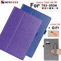Tab3 tb3-850m tampa articulada para lenovo tab2 tab 2 a8-50f a8 a8 tablet case suporte pu leather case capa shell + mão + slot para cartão