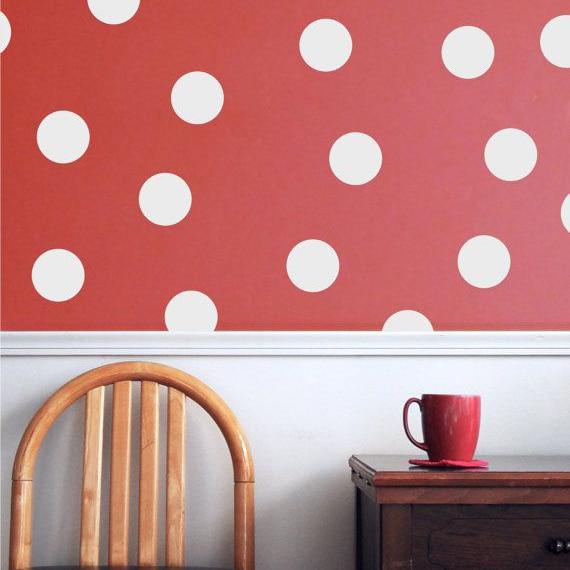 Big Polka Dots Wall Sticker, Dots Wall Decal Балалар - Үйдің декоры - фото 4