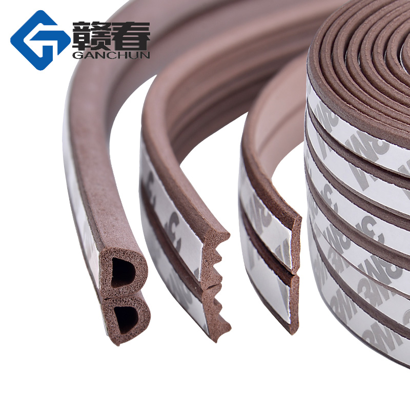 10M Type DIEP Self Adhesive Door Sealing Strips Self Adhesive Window Foam Wind Waterproof Dustproof Sound