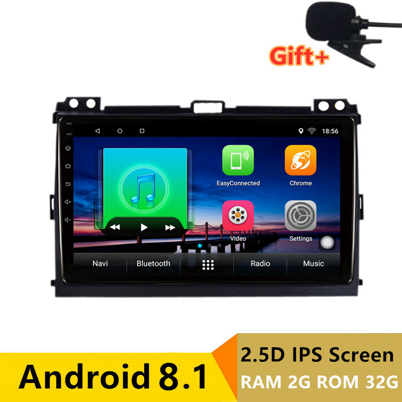 "9"" 2G RAM Android Car DVD Multimedia Player GPS For Toyota Prado 120 Land Cruiser 2004-2009 audio car radio stereo navigation"